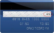 example back of credit card
